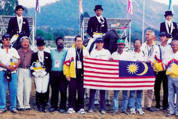 Asian Games 1998 Bangkok. Dressage Team Silver